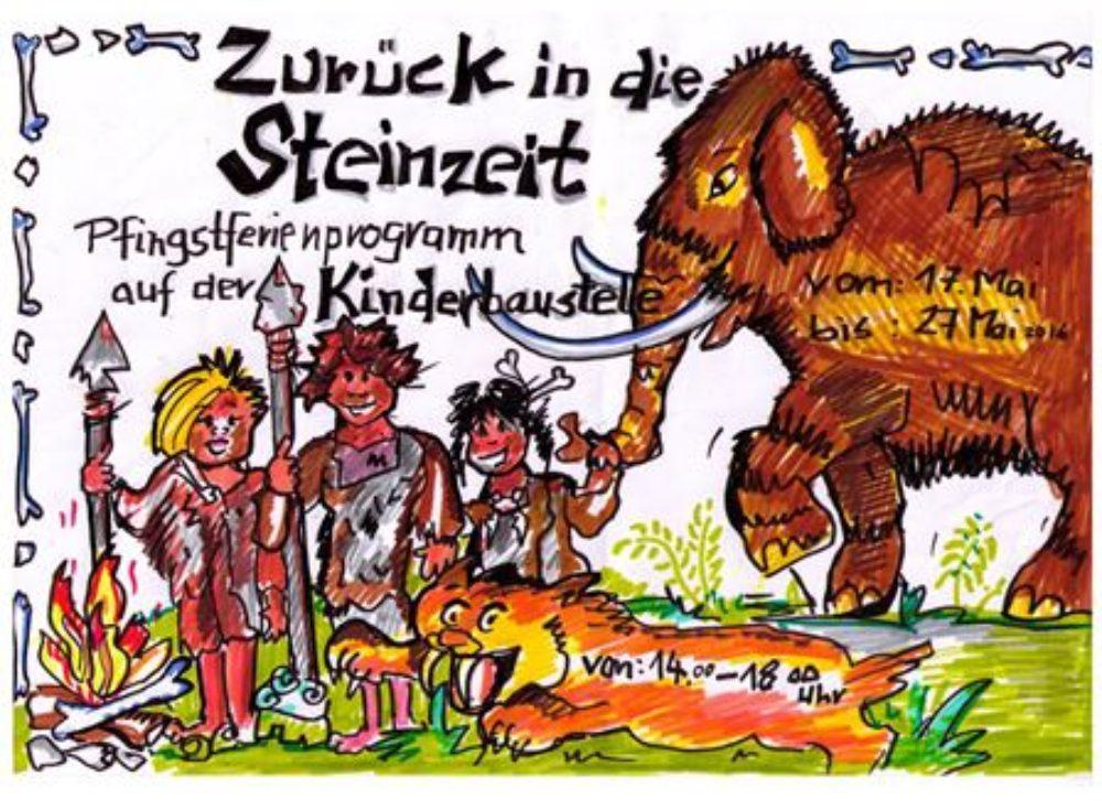 Zeichnung Ferien: zurück in die Steinzeit