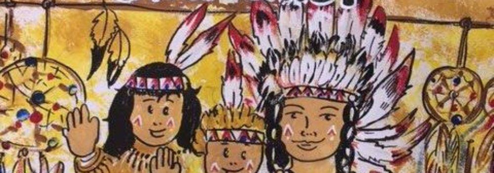 Malerei indianer grüßen