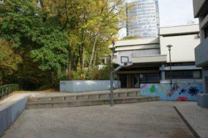 Außenbereich des Jugendzentrums