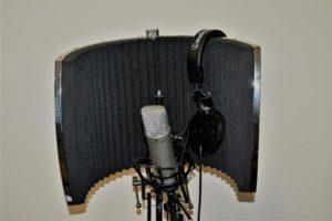 Mikrofon mit Kopfhörer
